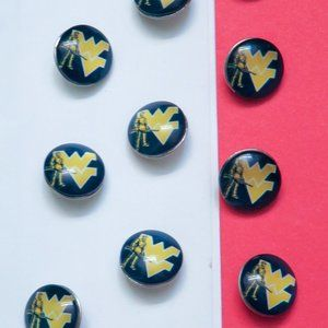 Univ of West Virginia Mountaineers Sports Buttons